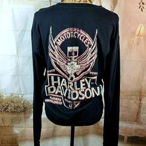 Harley Davidson Oversize long sleeve Graphic tee.